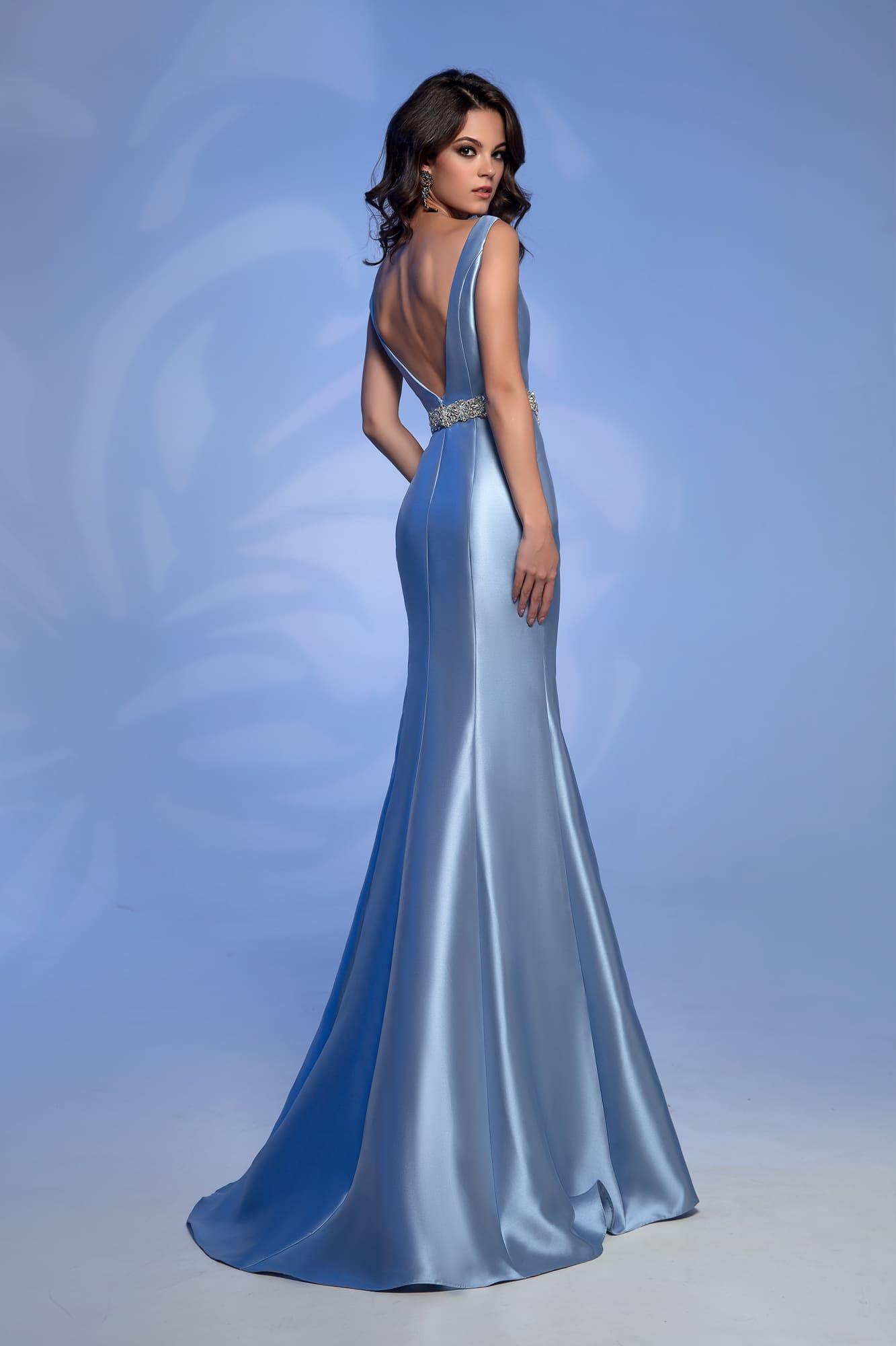 ebd64c593da Атласное голубое платье Nora Naviano 51929 blue. Купить вечернее ...