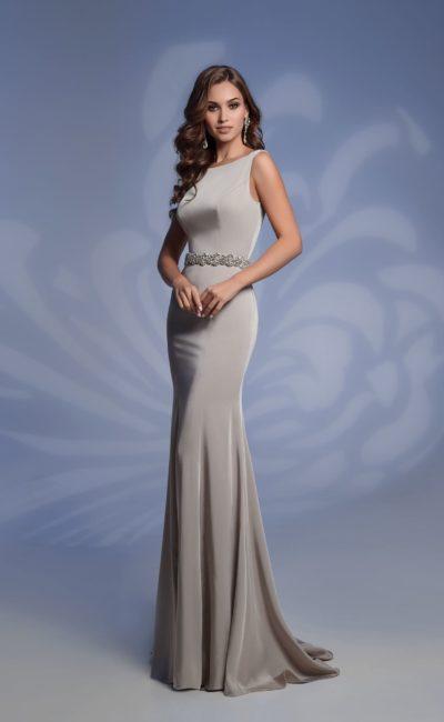 Платье серебристого цвета
