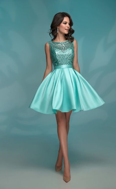 15b950b7d93 Бирюзовое выпускное платье 72034 mint