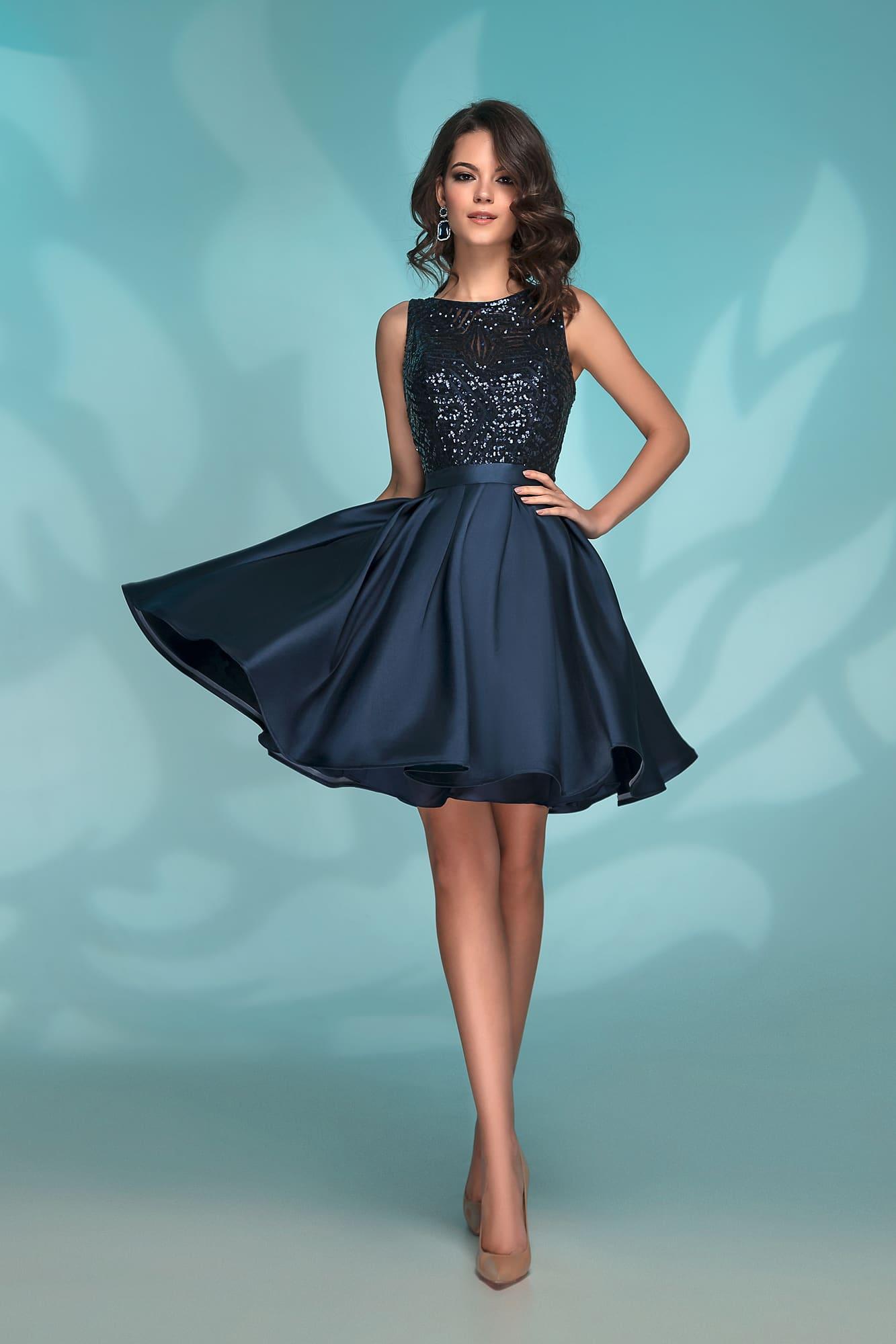 9695d985e56 Темно-синее короткое выпускное платье Nora Naviano 72034 navy ...