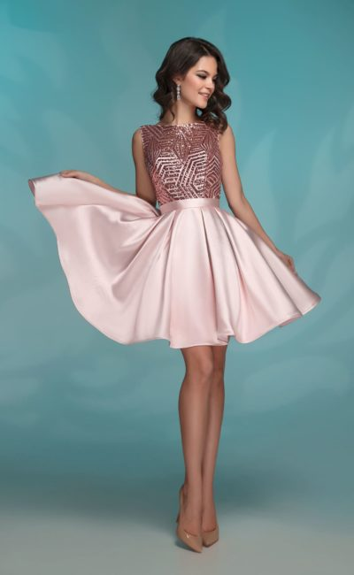 961f05fdae7 Короткое платье розового цвета 72034 rose