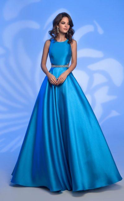 a2a1b2904d4 Выпускное платье голубого цвета 72147 teal