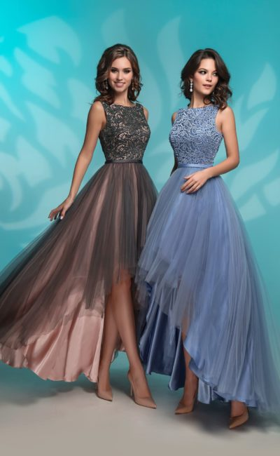 Вечернее платье лилового оттенка