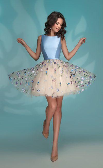 bba2c144dde Короткое голубое выпускное платье 72769 blue