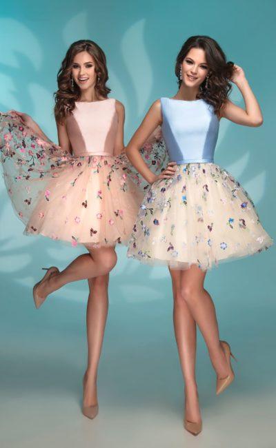 6b30011fcfd Выпускное короткое платье 72769 peach blue