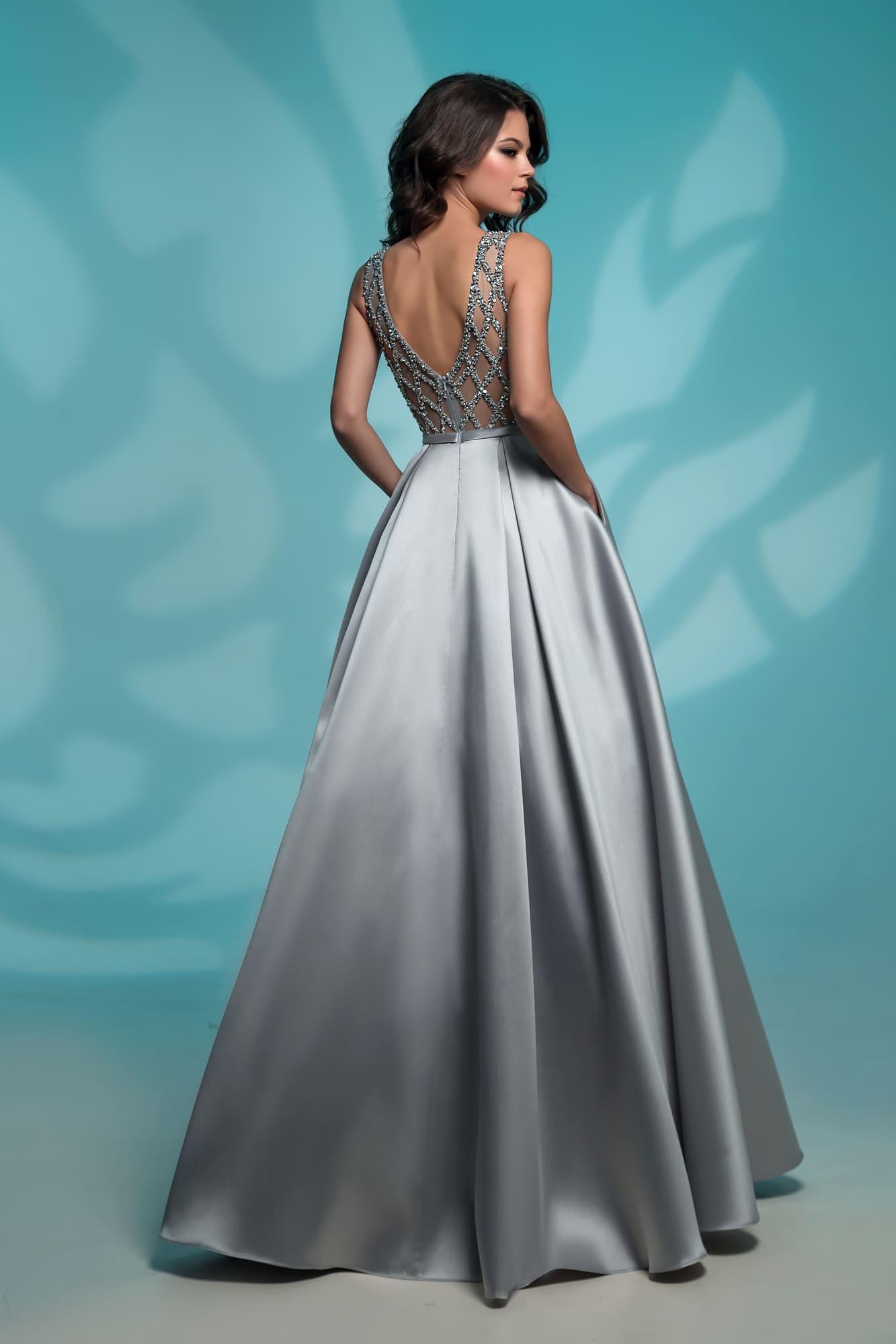 6f416835092e306 Платье на выпускной с карманами Nora Naviano 8142 grey. Купить ...