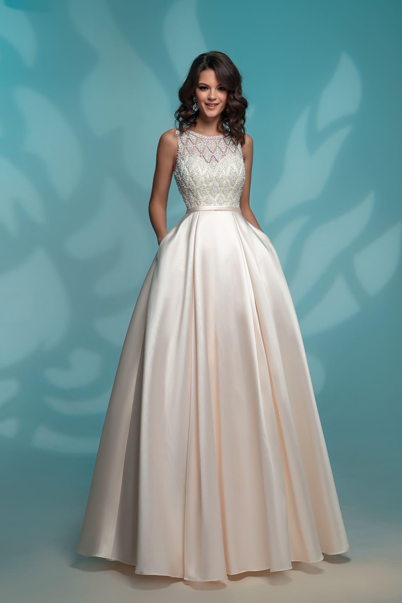 c3c8e1dda5a Белое платье на выпускной Nora Naviano 8142 ivory. Купить вечернее ...