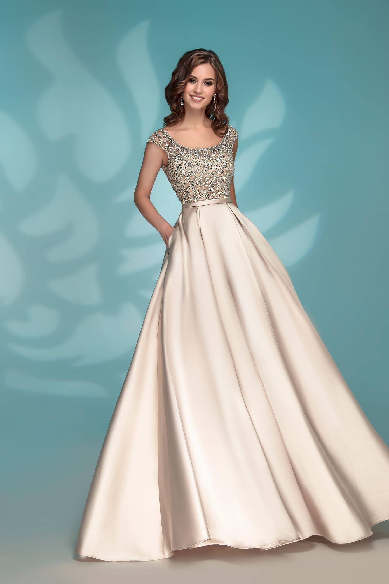 ce64623b17d966e Золотистое вечернее платье Nora Naviano 8176 gold. Купить вечернее ...
