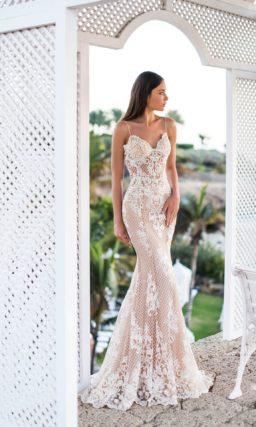 Свадебное платье «рыбка» с открытым лифом