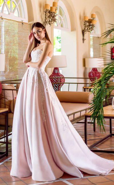 Розовое платье свадебное