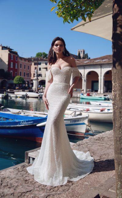 Платье с бисером
