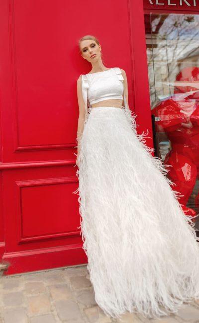 89c74f2cd19 Дизайнерское свадебное платье Crop-Top Virgini