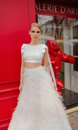 Дизайнерское свадебное платье Crop-Top