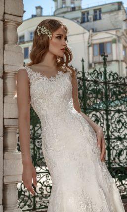 Свадебное ажурное платье