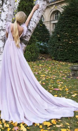 Свадебное платье лилового оттенка