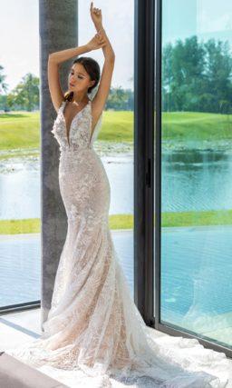 Красивое кружевное платье «русалка»
