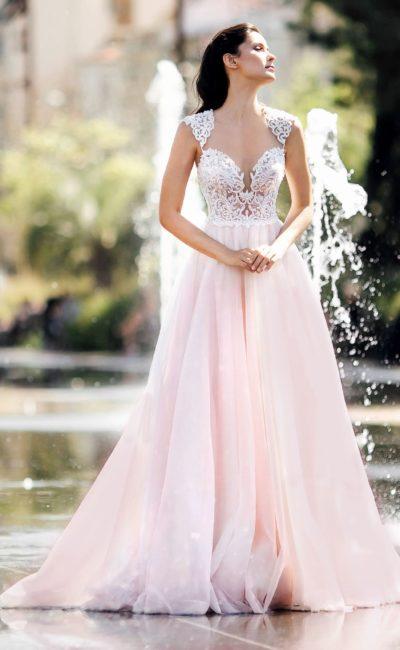 7dd643e54b300f1 Свадебные платья с кружевным декольте | Свадебный салон Валенсия ...
