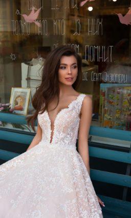 свадебное платье бледно розового оттенка