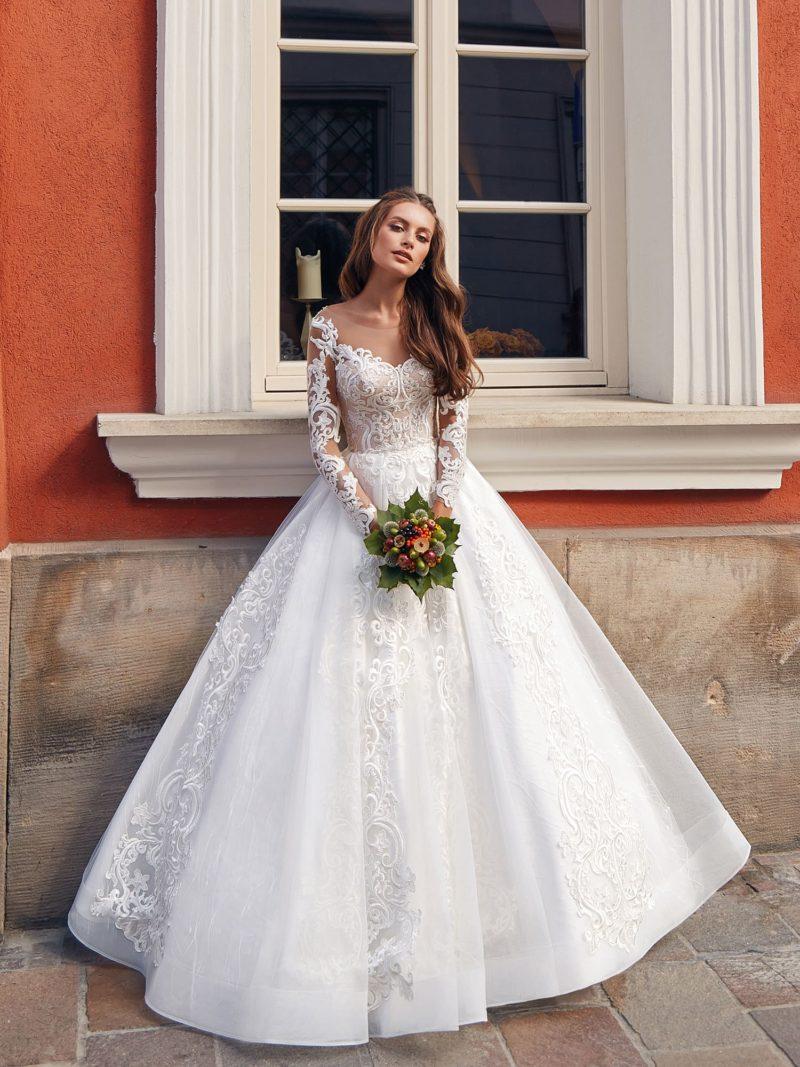 Пышное свадебное платье для классической церемонии