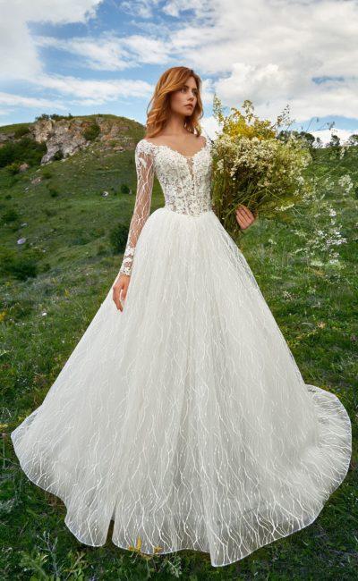 Красивое свадебное пышное платье