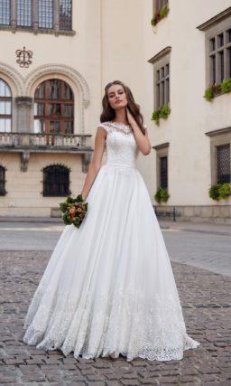 Лаконичное нежное свадебное платье