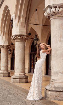 свадебное платье «русалка» оттенка айвори