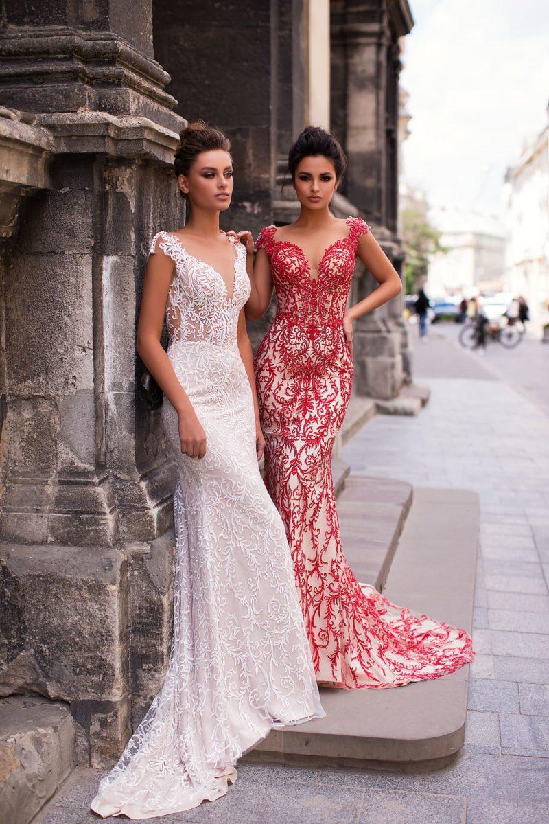 Красивое выпускное платье «русалка»