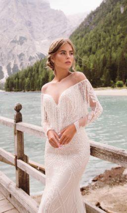 Облегающее свадебное платье с «русалочьим» силуэтом