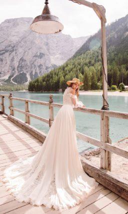 свадебное платье с торжественным шлейфом