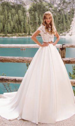 Свадебное платье кроп-топ в стиле хиппи