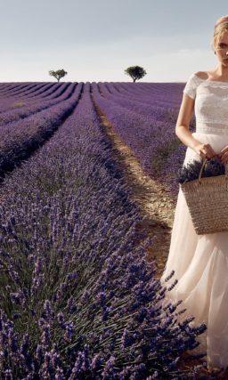 Чувственное свадебное платье с коротким рукавом