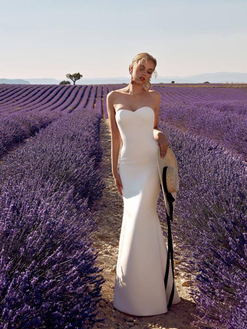 свадебное платье с женственным силуэтом «русалка»