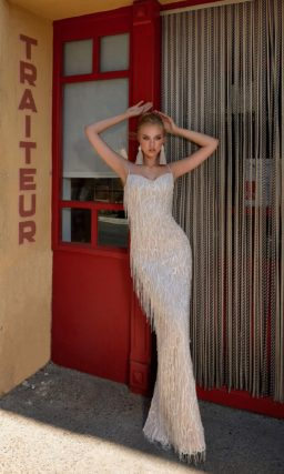 Свадебное платье с облегающим силуэтом и прямой юбкой