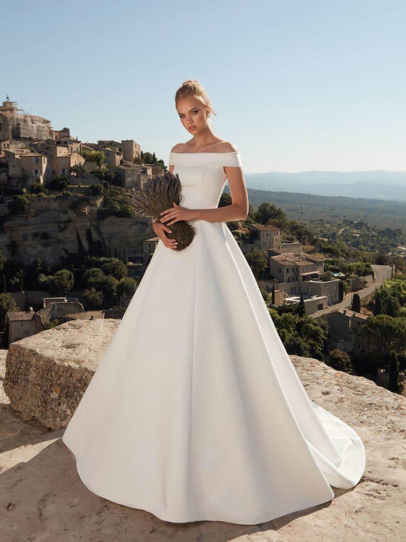 свадебное платье из шелкового шифона