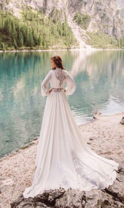 Шифоновое платье в стиле бохо