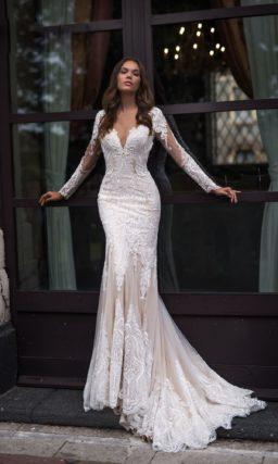 Прелестное свадебное платье с силуэтом «русалка»