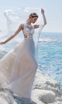 свадебное платье с корсетом в стиле nude