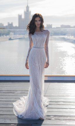 Утонченное свадебное платье с «русалочьим» силуэтом