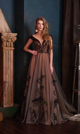платье кофейного оттенка