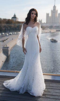 Белоснежное свадебное платье «русалка»