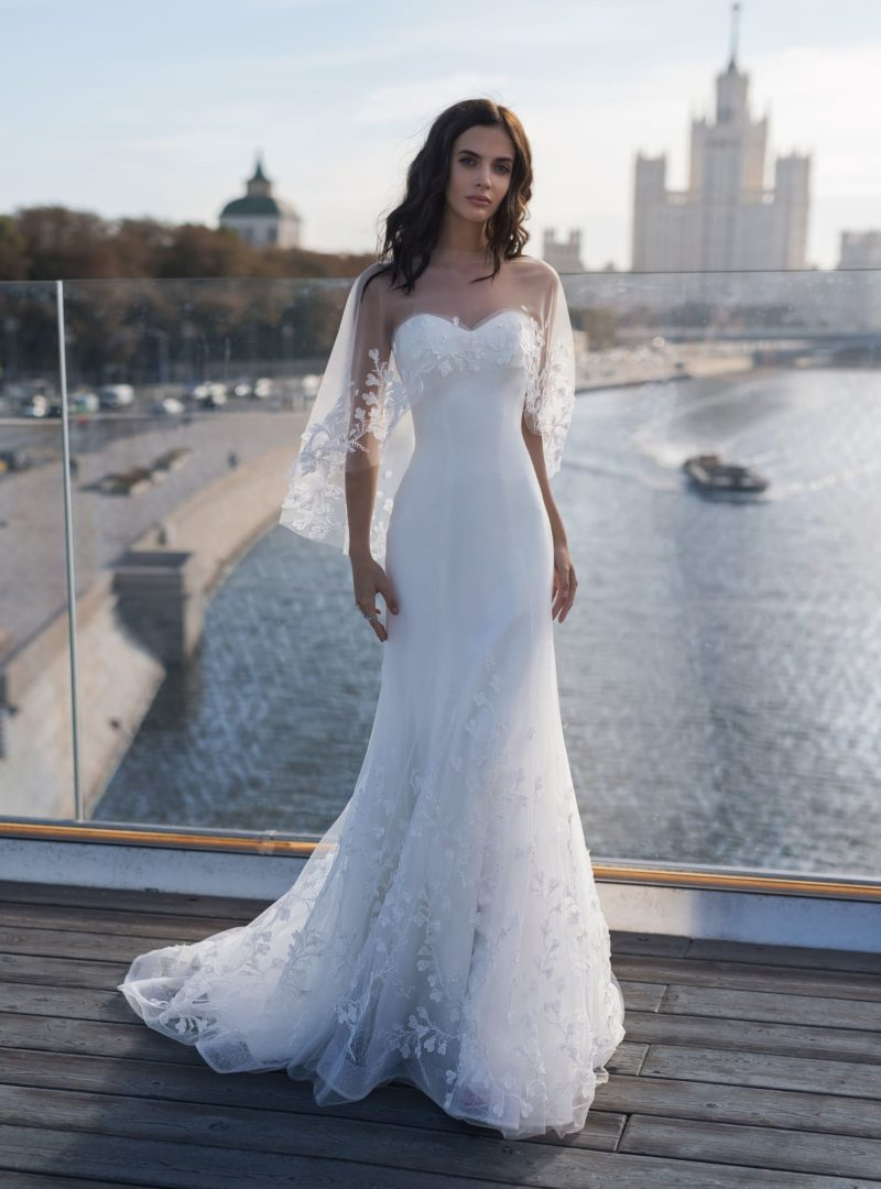 Платье «русалка» с накидкой