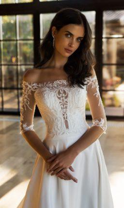 Восхитительное свадебное платье с приталенным силуэтом