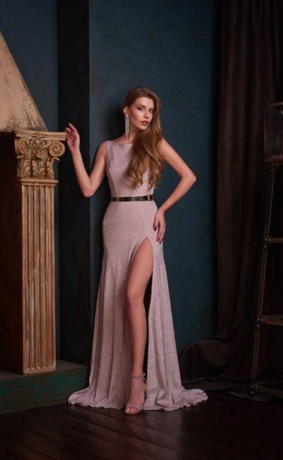 вечернее платье с прямым силуэтом