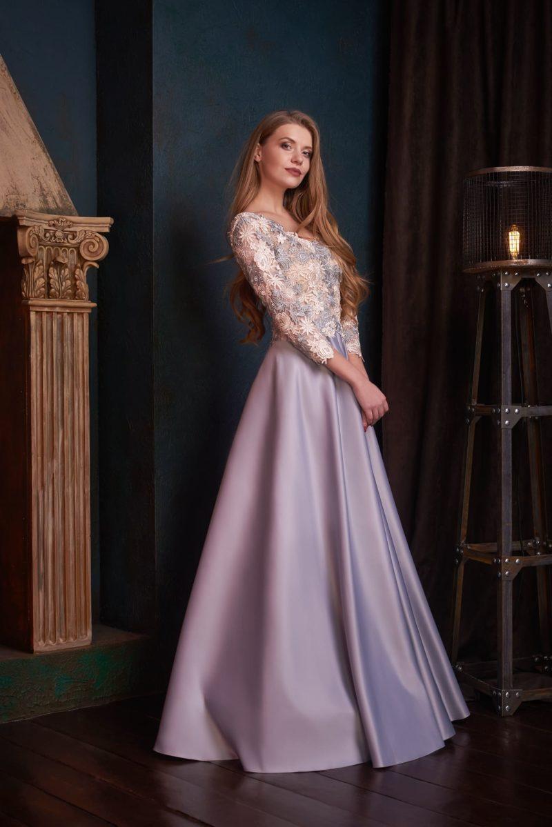 Изумительное лиловое вечернее платье