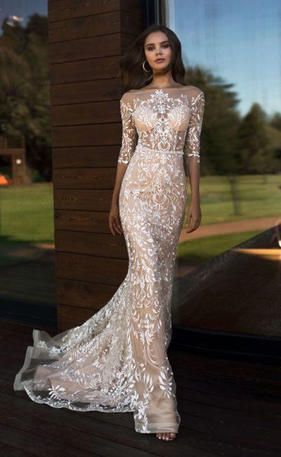 Кружевное прозрачное платье