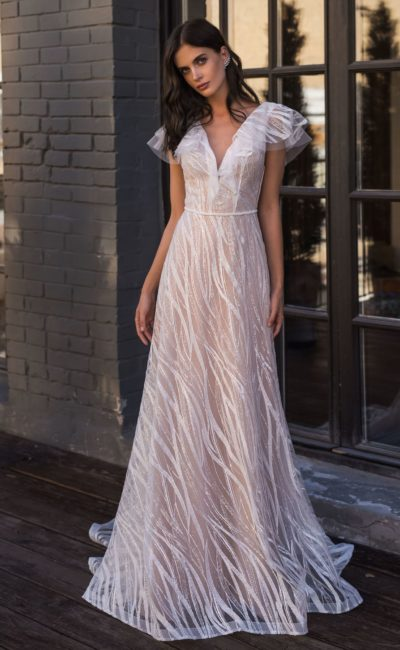 Свадебное платье из необычной ткани