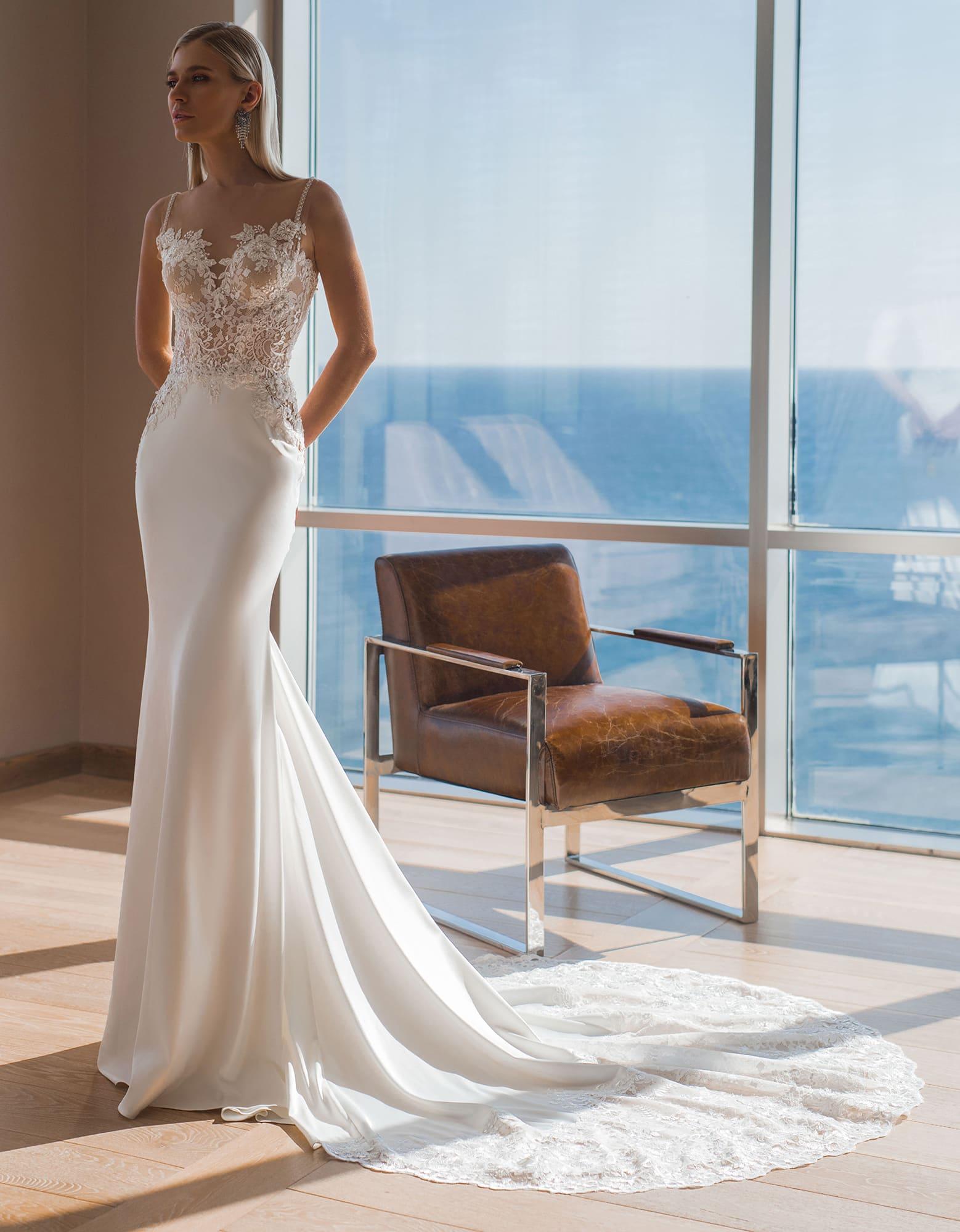 Свадебное платье в силуэте «русалка»