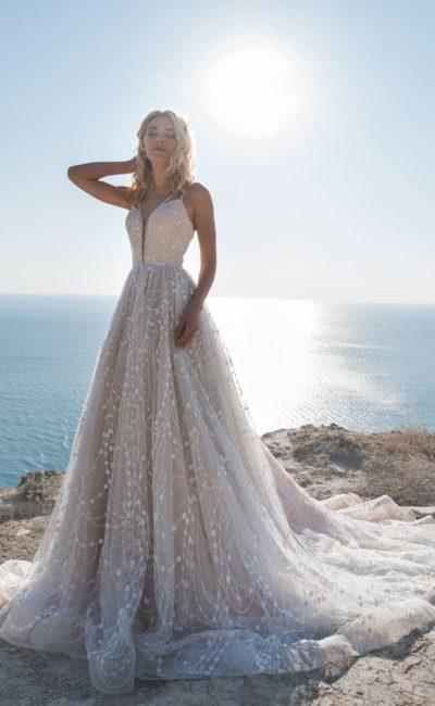 Платье с пудровым корсетом