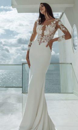 Платье русалка с кружевным верхом