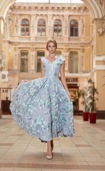 Выпускное платье с цветами